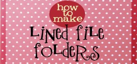 decorative file folders: how to line a file folder