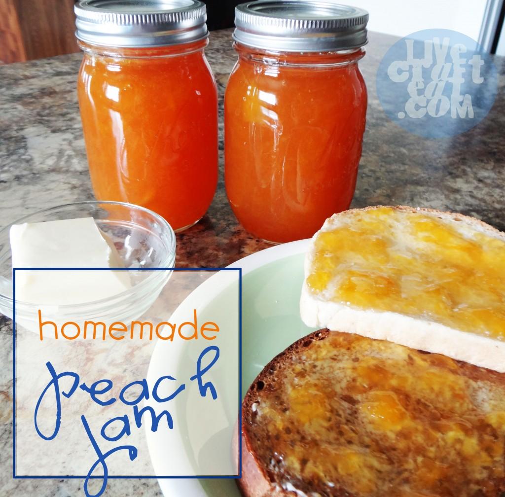 steps for homemade peach jam