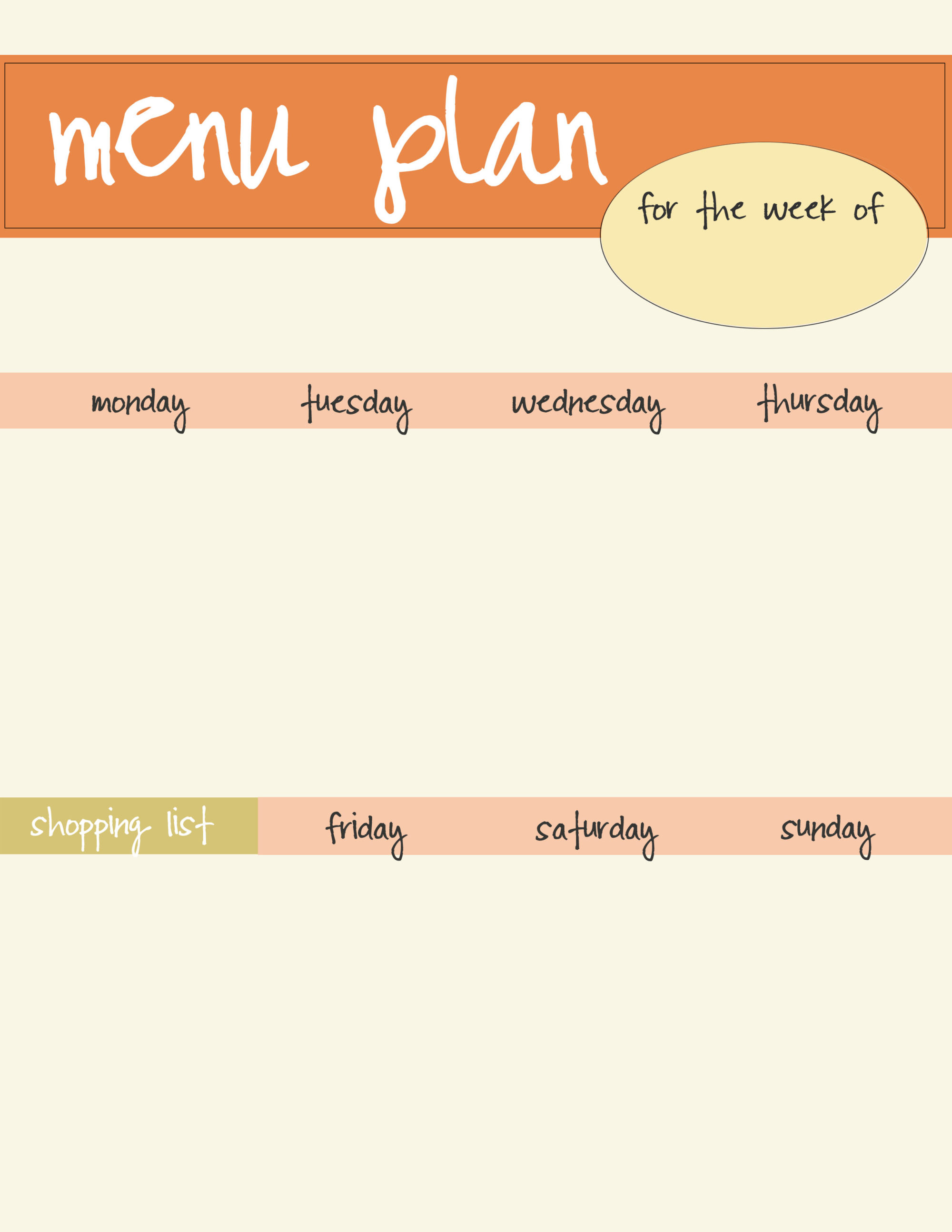 Meal Planning Template - Free Download   Live Craft Eat