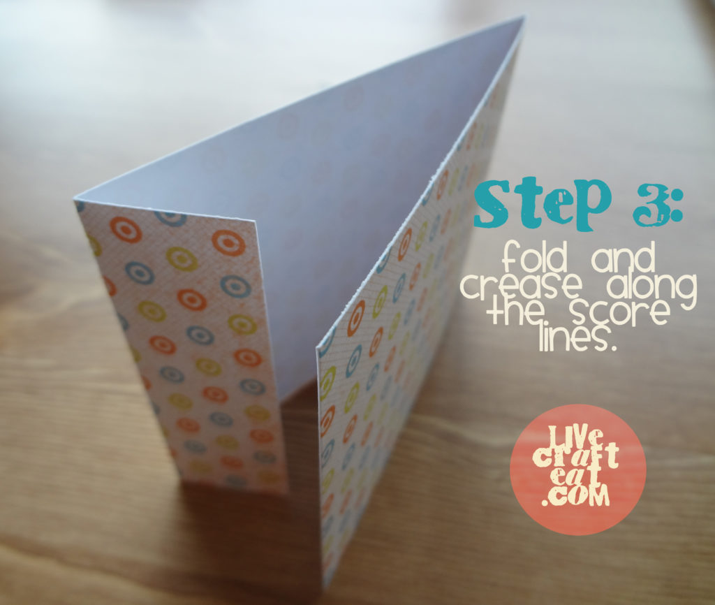 how to make a matchbook notebook - step 3