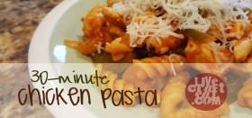 chicken pasta recipe feature image