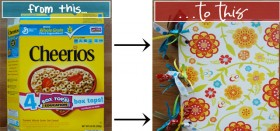 how to: turn a cereal box into a journal