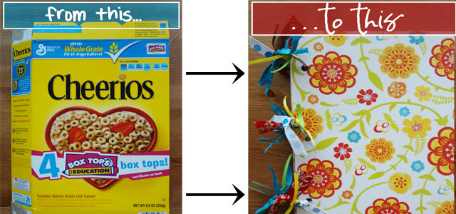 Cereal box crafts turn a cereal box into a notebook live craft eat ccuart Images
