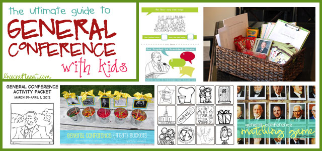 ideas, games, and activities for general conference with kids