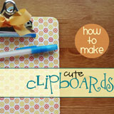 decorative clipboards tutorial
