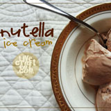 homemade nutella ice cream