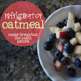 breakfast oatmeal with fruit