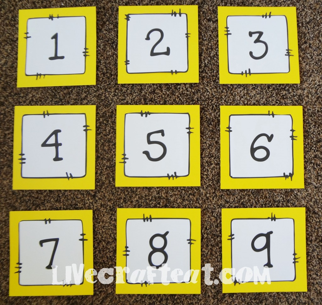 numbers for lds music tic tac toe game
