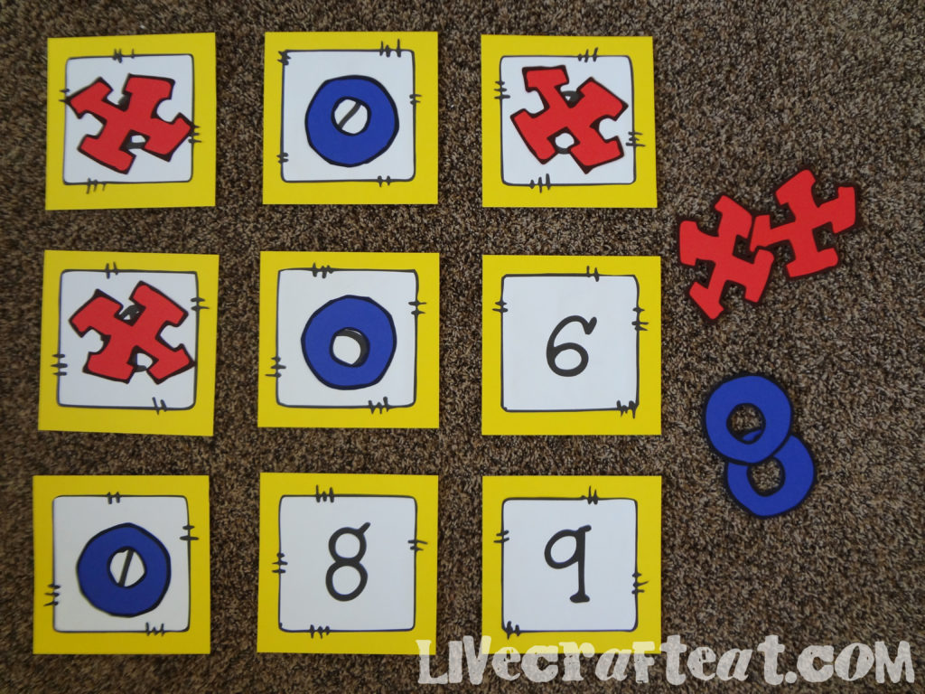 x's and o's for lds music tic tac toe game