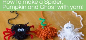 how to: make a spider, pumpkin, and ghost with yarn! {guest post}