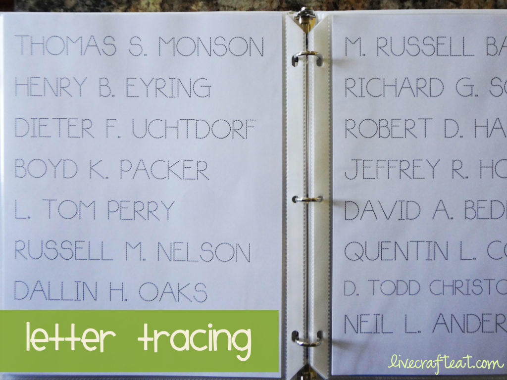 letter tracing activities for children