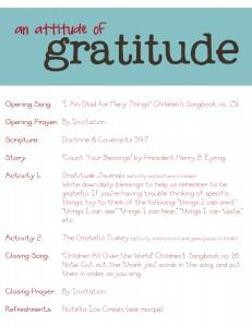 attitude of gratitude family home evening lesson