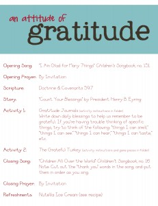 attitude of gratitude family home evening lesson