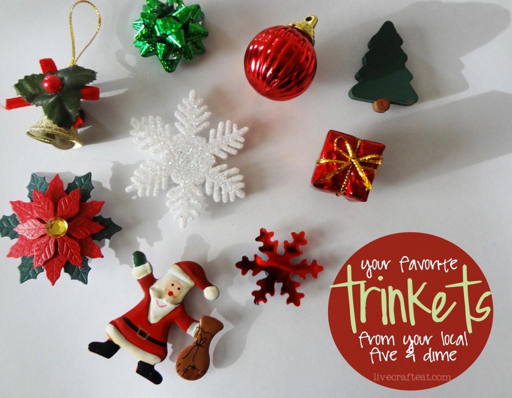inexpensive christmas decoration ideas - christmas ornaments, snoflakes, gifts, pointsettas, santas, etc.