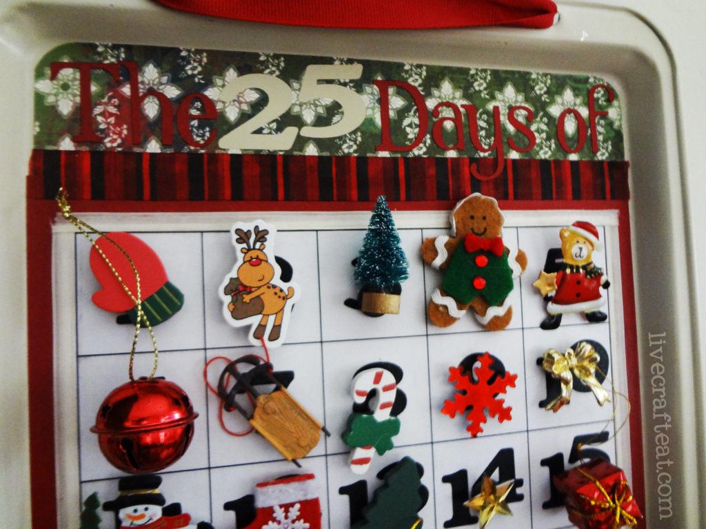 magnetic christmas countdown calendar