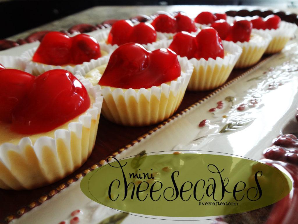 Mini Cheesecake Recipe | Live Craft Eat
