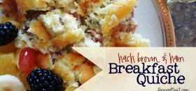 hash brown & ham breakfast quiche