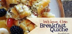 hash brown & ham breakfast quiche