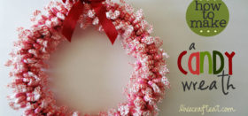 how to: make a candy wreath