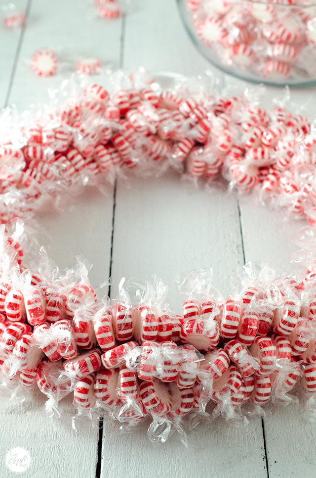 how to make a candy wreath tutorial