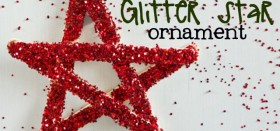 how to: glitter star christmas ornament for kids {guest post}