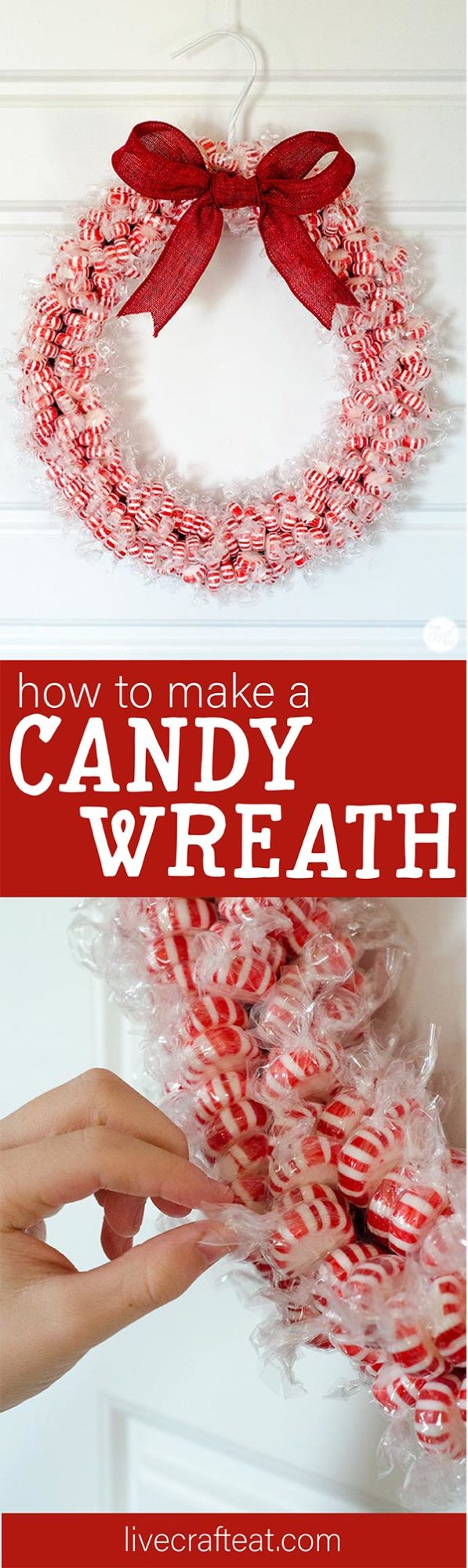 how to make a wreath out of candy
