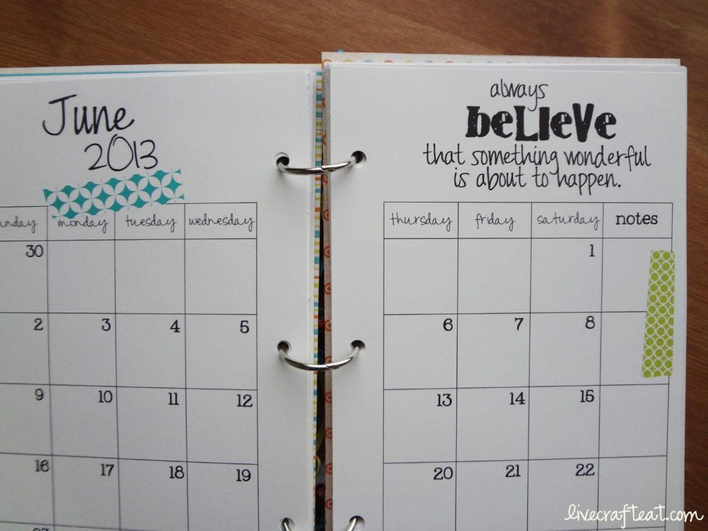 Diy Quote Calendar : Diy planner from a cereal box free printables