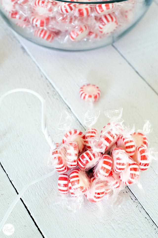homemade candy wreath tutorial