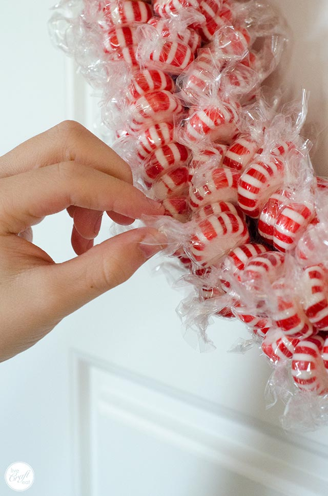 edible candy wreath