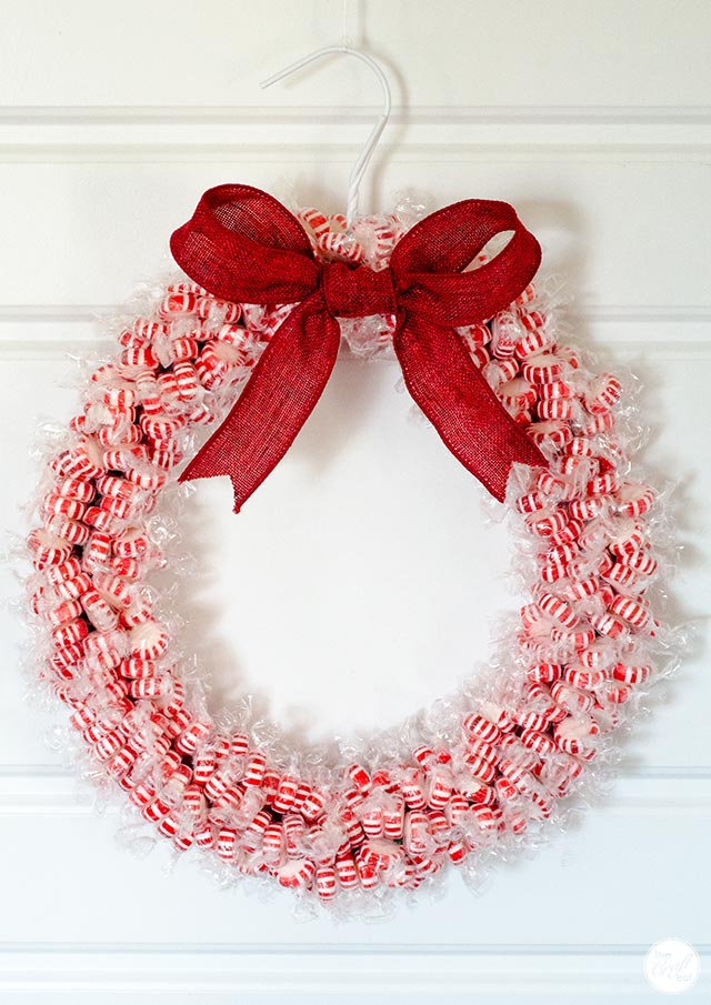how to make a candy wreath :: step-by-step tutorial