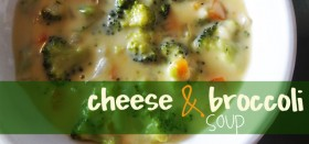 recipe for cheese and broccoli soup - with carrots and onions