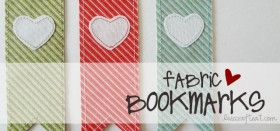 fabric bookmarks with hearts
