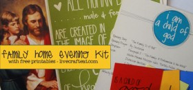 lds family home evening kits - free printables