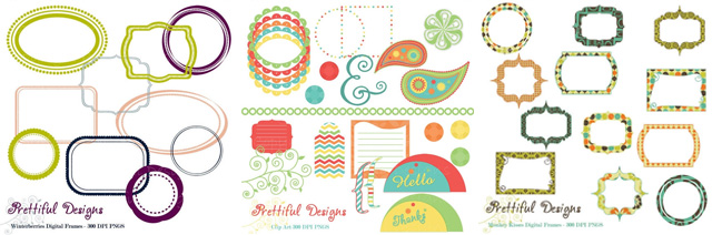 digital scrapbooking frames and graphics