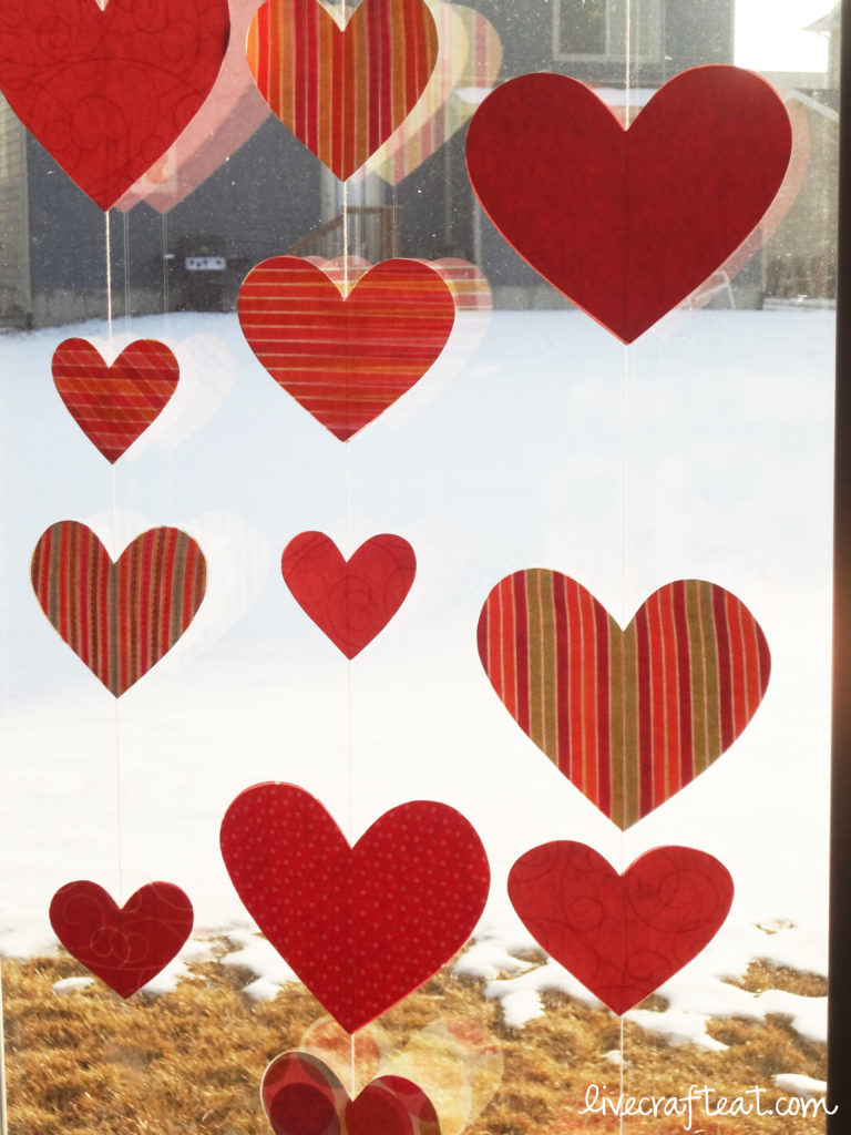 valentine's day window decoration