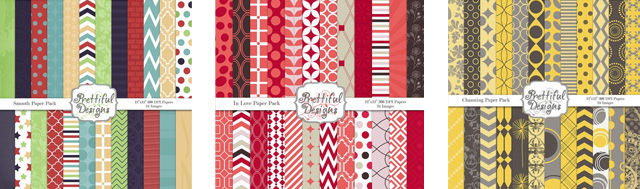 digital scrapbook paper packs