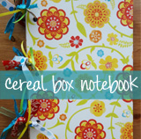 cereal box to journal