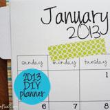 diy 2013 planner
