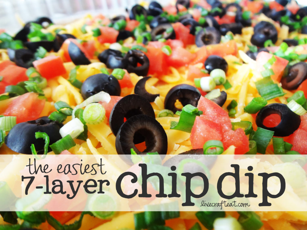 recipe for a 7-layer chip dip