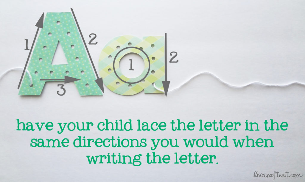 cereal box lacing cards