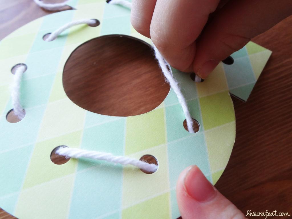 kid lacing card activities
