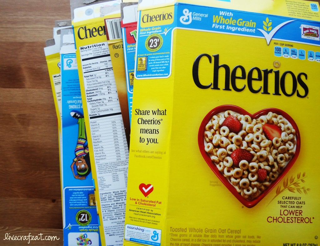 cereal box crafts