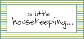 a little housekeeping