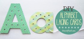 diy alphabet lacing cards :: help your child learn to write