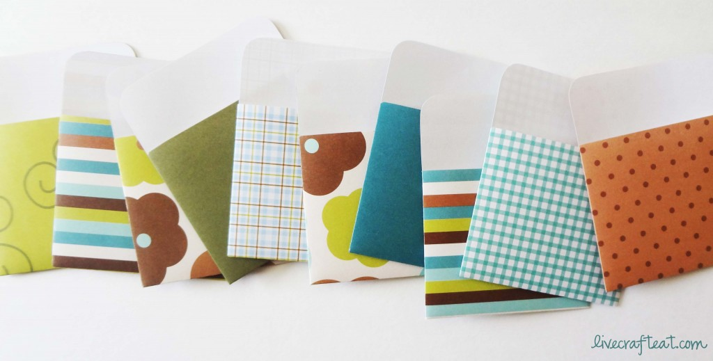 diy library card envelopes