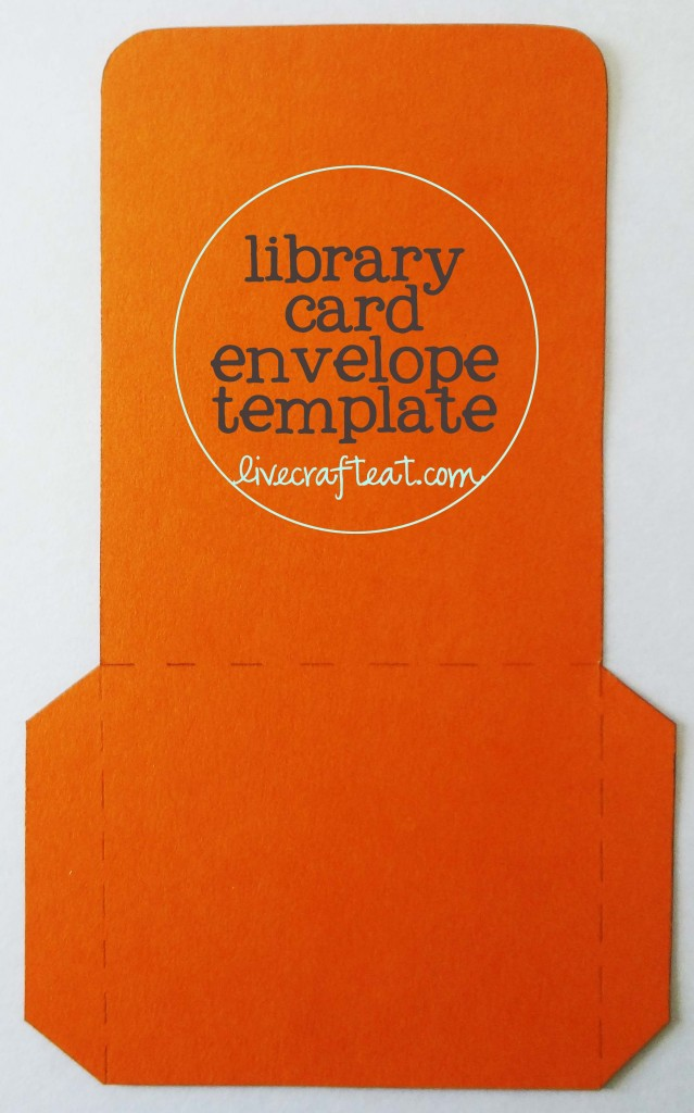 free diy library card envelope template