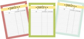 spring cleaning your pantry :: free printable pantry list