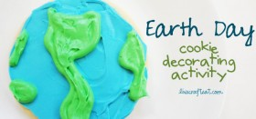 earth day cookie decorating activity for kids