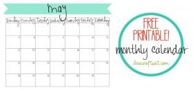 free printable calendar :: may 2013