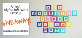 signs.com alphabet wall decal set giveaway